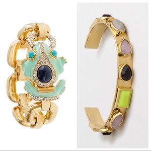 J. Crew Frog & Multi-Jeweled Bracelet Bundle
